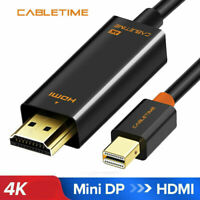 Cabletime Thunderbolt Mini DisplayPort DP to HDMI Cable For Mac Pro Air iMAC 4K