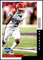 2019 SCORE NFL DRAFT #2 MARQUISE BROWN OKLAHOMA SOONERS ROOKIE CARD