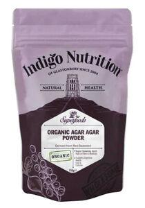 Indigo Herbs Organic Agar Agar Powder 150g Food Grade Vegan Gelatine