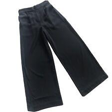 Madewell  Womens High Waist Elastic Wide Leg Black Trouser Pants Pockets Size M