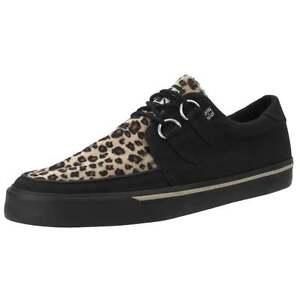 T. U. K.A9181 Neuf Rare Hommes T. U.K.Chaussures Noir & Léopard Vlk Creeper