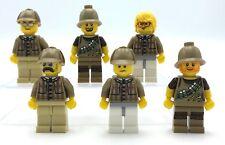 Lego 6 Neu Detektiv Minifiguren Abenteurer Figuren