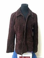 New York and Co. Women's Soft Leather Suede brown Jacket blazer size Large