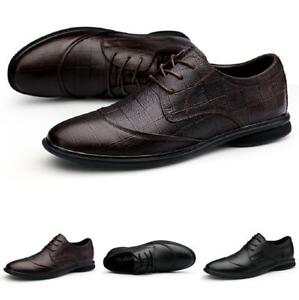 Mens Faux Leather Business Leisure Shoes Work Office Oxfords Lace up Formal 45 L