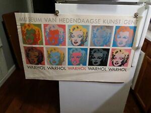 MUSEUM VAN HEDENDAAGSE KUNST / GENT- Andy Warhol MARILYN 38Lx24H 1964 Authentic