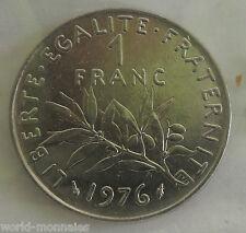 1 franc semeuse 1976 : SUP : pièce de monnaie française