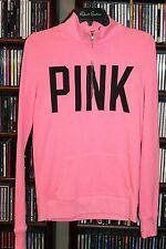 Victoria's Secret PINK pink Black Sequin I Love Ohio 1/2 zip sweatshirt XS (b105