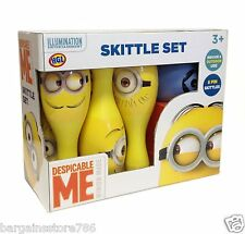 Despicable Me Minion Kids 6 Pin Bowling Set Indoor Outdoor Skittles Boys Girls