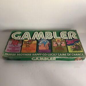 The Gambler Board Game Parker Brothers Vintage 1977 Complete