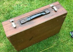 Vintage Wooden Tool Box / Case -  Brown - Hand Made Box / Case 43x33x12