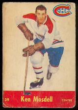 1955 56 PARKHURST HOCKEY #39 Ken Mosdell VG MONTREAL CANADIENS CARD