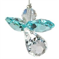 Austrian Crystal Guardian Angel Birthstone Suncatcher Blue Zircon Dec WS CGBZ
