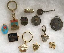 Lot of 12 Key Chains Fobs Danglers Pendants Charms Trinkets Disney Mickey Gilley