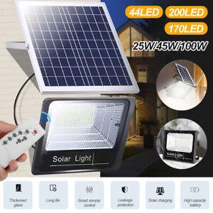 LED Solar Powered Outdoor Garden Wall Light Security Floodlight Lamp Waterproof