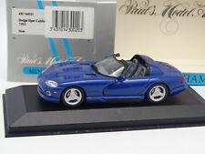 Minichamps 1/43 - Dodge Viper Cabriolet Bleue 1993