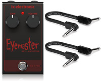New TC Electronic Eyemaster Metal Distortion Effects Pedal w/ Patch cables.