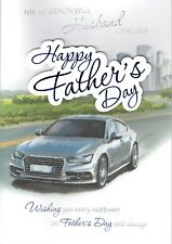 Wonderful HUSBAND - LARGE Quality FATHER'S DAY card, Fathers Day Car Design