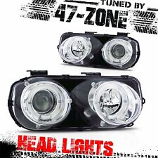 For Stealth 1994-1997 Acura Integra Dual Halo Projector Chrome Housing Headlight