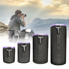 4pcs Waterproof Neoprene DSLR Camera Lens Soft Protector Pouch Case Bag AU