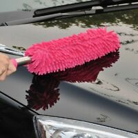Car Wash Brush Microfibre Noodle Chenille Long Flexible Alloy Wheel Clean New