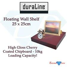 Duraline Floating Wall Shelf 25 x 25cm - High Gloss Cherry 10kg Capacity