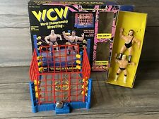 WCW Wrestling Ring With Cage 1994 San Francisco Toymakers WWE WWF AEW COMPLETE