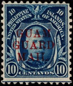 Guam - 1930 - 10 Cents Deep Blue Guam Guard Mail Issue M11 Mint Fine - Very Fine