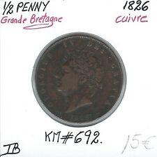 GRANDE BRETAGNE - 1/2 PENNY - 1826 - Pièce de Monnaie en Cuivre // Qualité: TB