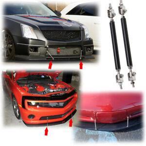 Adjustable Front Bumper Lip Splitter Strut Rod Tie Support Bars Spoiler 100mm B