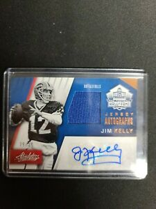 2016 Absolute Jim Kelly Hall of Fame Jersey Autograph 29/30 Bills auto