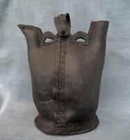 Antique 16th Century Turkish Ottoman Islamic Leather Water Flask Matara to sword