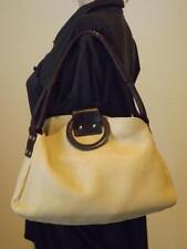 Christopher Kon Beige Tan Pebbled Leather Hobo Shoulder Bag
