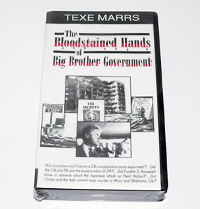 The Bloodstained Hands of Big Brother Government by Texe Marrs RARE, SEALED VHS