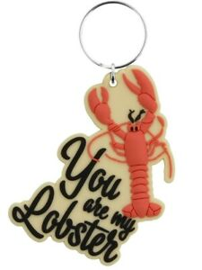 Friends Keyring You are my Lobster Rubber Cream 4.5 x 7cm