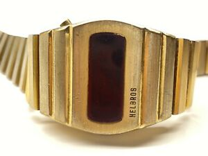 vintage helbros led wristwatch as is for parts or repair