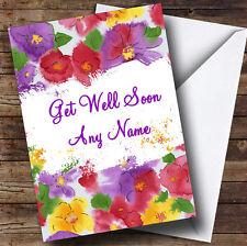Beautiful Flowers Personalised Get Well Soon Greetings Card