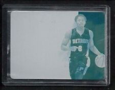 Spencer Dinwiddie National Treasures TIMELINES Plate #1/1! Pistons Chicago Bulls