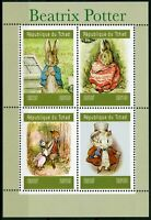 Chad 2019 MNH Beatrix Potter Peter Rabbit 4v M/S Foxes Rabbits Animals Stamps