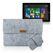 CASE SLEEVE FOR MICROSOFT SURFACE PRO 3 GREY BAG COVER FELT POCKETS PROTECTIVE