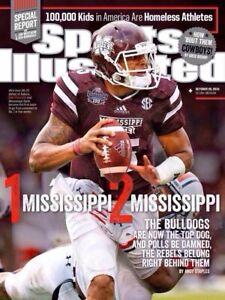 Sports Illustrated October 20, 2014 Dak Prescott Mississippi State No Label Mint