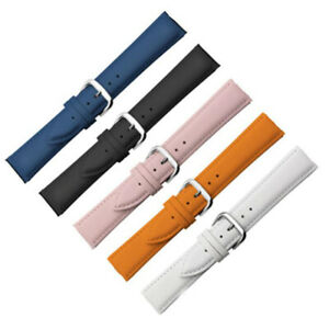 12-22mm Genuine Leather Wrist Band Bracelet Replacement Pin Buckle Watch Strap