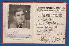 National Republic of Croatia, ID card 1947, Narodna Republika Hrvatska, Legitima