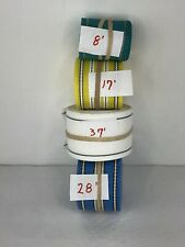 Used Vintage Lot Of Lawn Chair Furniture Webbing. Assorted Lengths And Colors