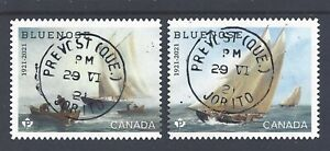 2021 Bluenose (1921-2021) Booklet pair CDS First Day Cancel