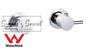 Watermark WELS Shower Bath 1/4 Turn Mixer Twin Taps BrassChrome/Matt Black Round
