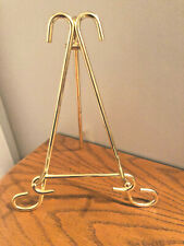 Gold metal tabletop desktop EASEL STAND ~picture, plate, book.