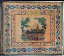 """1900"" KARIN ERZURUM Turkey ARMENIAN hand beaded needlework Embroidery/ Tapestry"