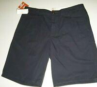 dockers mens flat front 100% cotton casual shorts sz: W36 color: blue