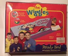 NIB The Wiggles Ready Bed Inflatable Big Red Car Sleeping Bag Cover Bed & Pump