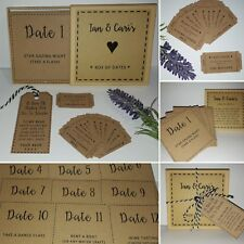 Customised Box of 12 Dates / Date Night Ideas + Love Tokens - Valentines Wedding